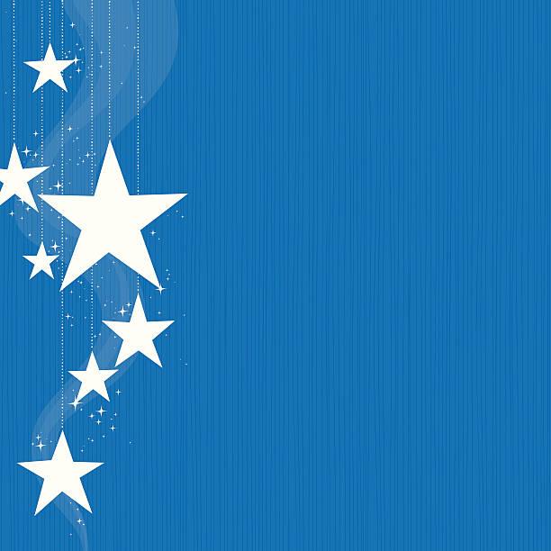 Hanging Stars vector art illustration