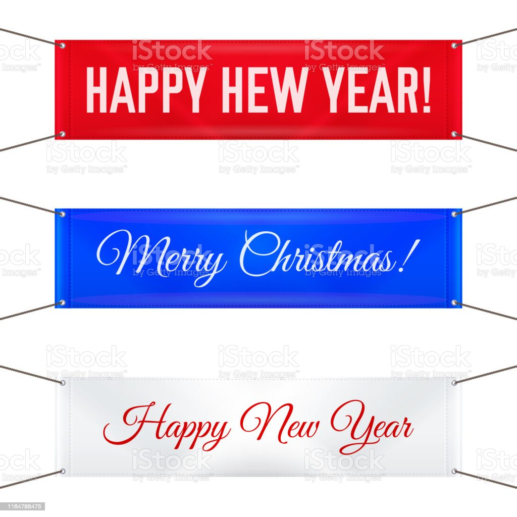 Hanging Banner Images Merry Christmas & Happy New Year 2020 Hanging Textile Banners With Grommets Merry Christmas And Happy