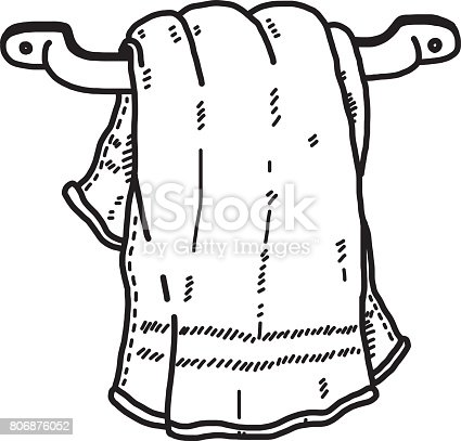 Hanging Towel In Bathroom Stock Vector Art & More Images ...