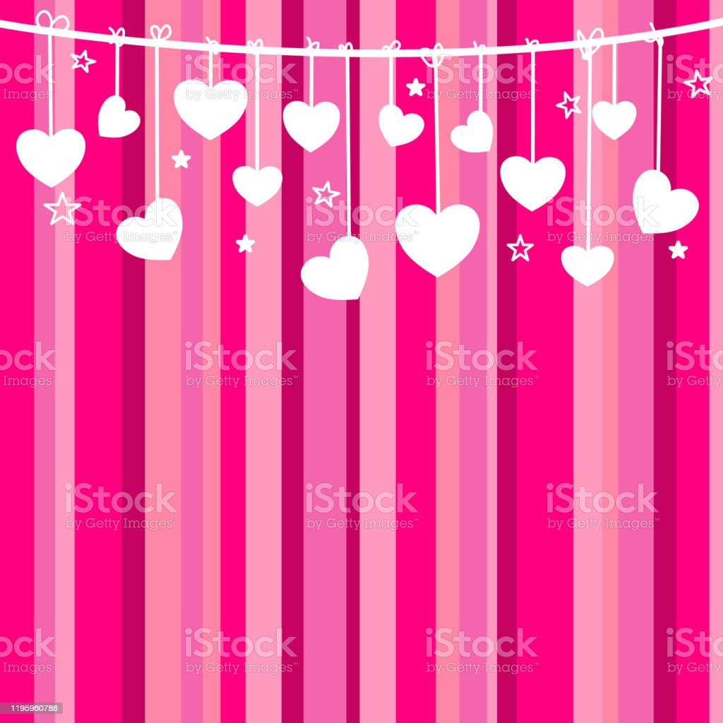 hanging white heart on strip pink background happy valentine day celebration concept vector illustration stock illustration download image now istock hanging white heart on strip pink background happy valentine day celebration concept vector illustration stock illustration download image now istock