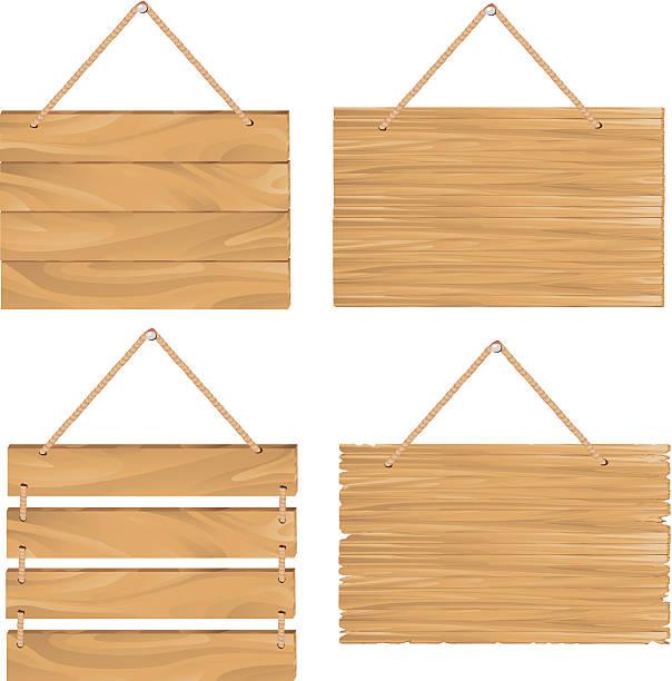 hängen hölzerne schild -brett - nagelplatte stock-grafiken, -clipart, -cartoons und -symbole