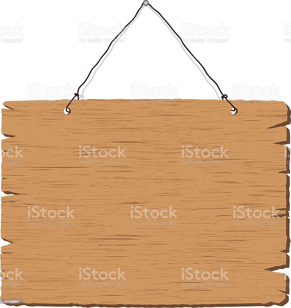 Panneau en bois suspendu panneau en bois suspendu – cliparts vectoriels et plus d'images de en bois libre de droits
