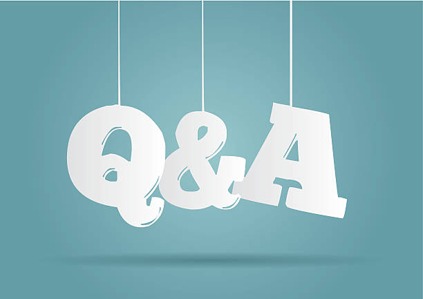 Hanging word Q&A Hanging word Q&A faq stock illustrations