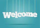 Hanging word Welcome