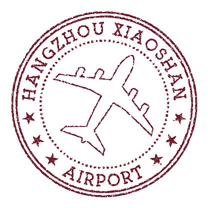 Hangzhou Xiaoshan Airport stamp.