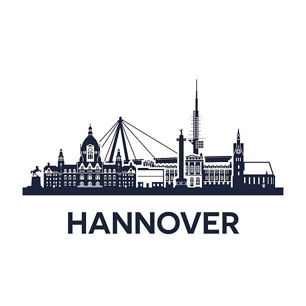 hannover city skyline - hannover stock-grafiken, -clipart, -cartoons und -symbole