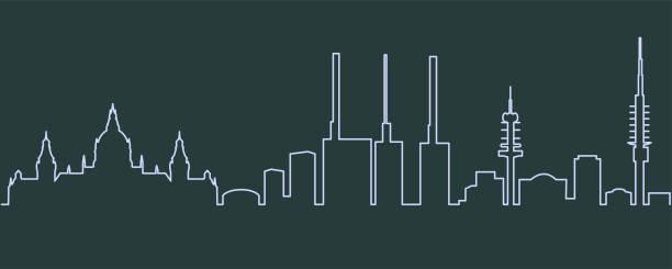 hannover-zeile-skyline - hannover stock-grafiken, -clipart, -cartoons und -symbole