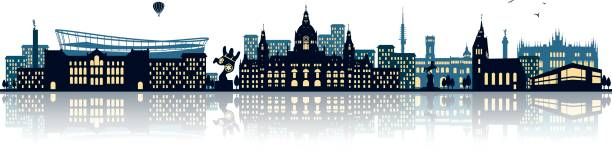 skyline von hannover - hannover stock-grafiken, -clipart, -cartoons und -symbole