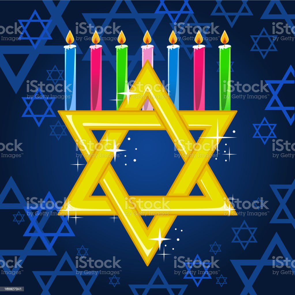 Hannukah candles. royalty-free hannukah candles stock vector art & more images of blue
