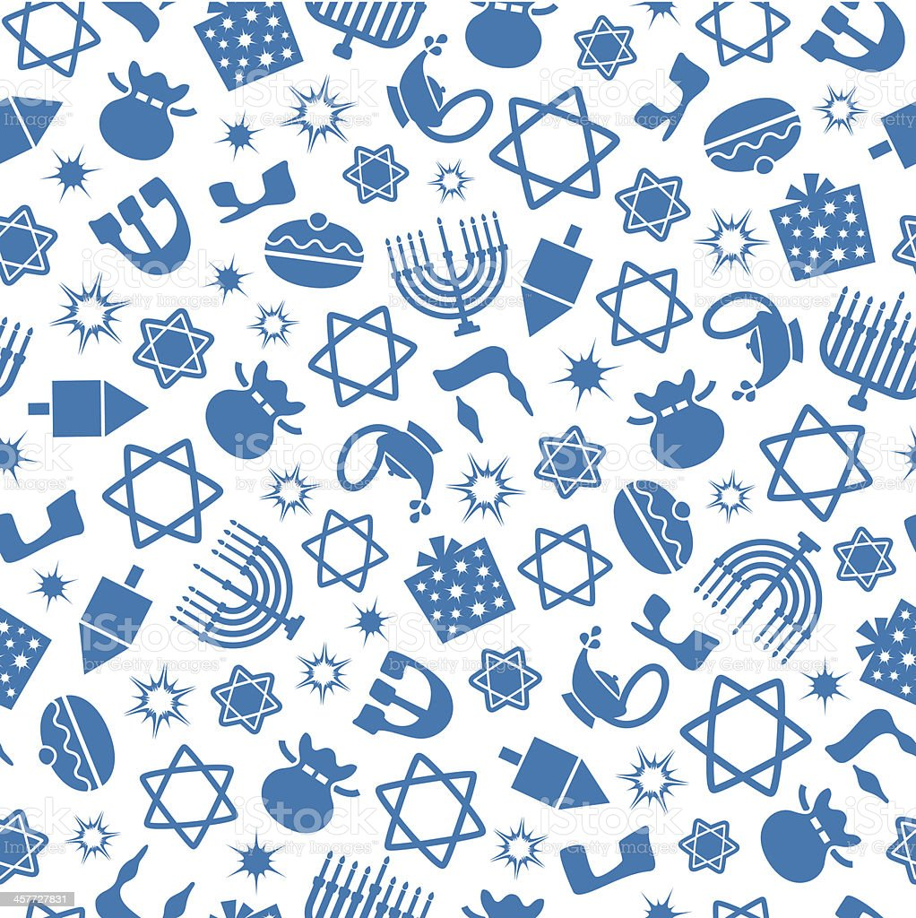 Hannukah - One Color Seamless Pattern royalty-free stock vector art