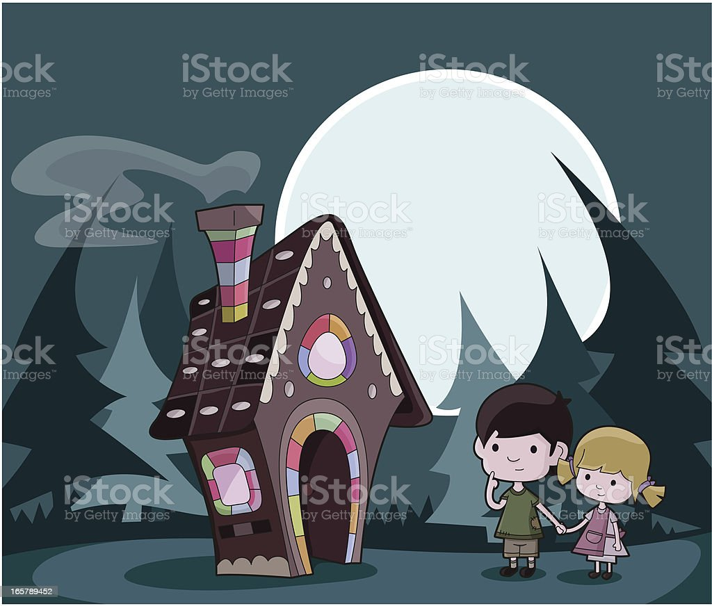 Hansel and Gretel / Fairytale vector art illustration