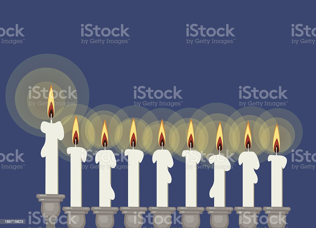 Hanukkah Candlestick royalty-free stock vector art