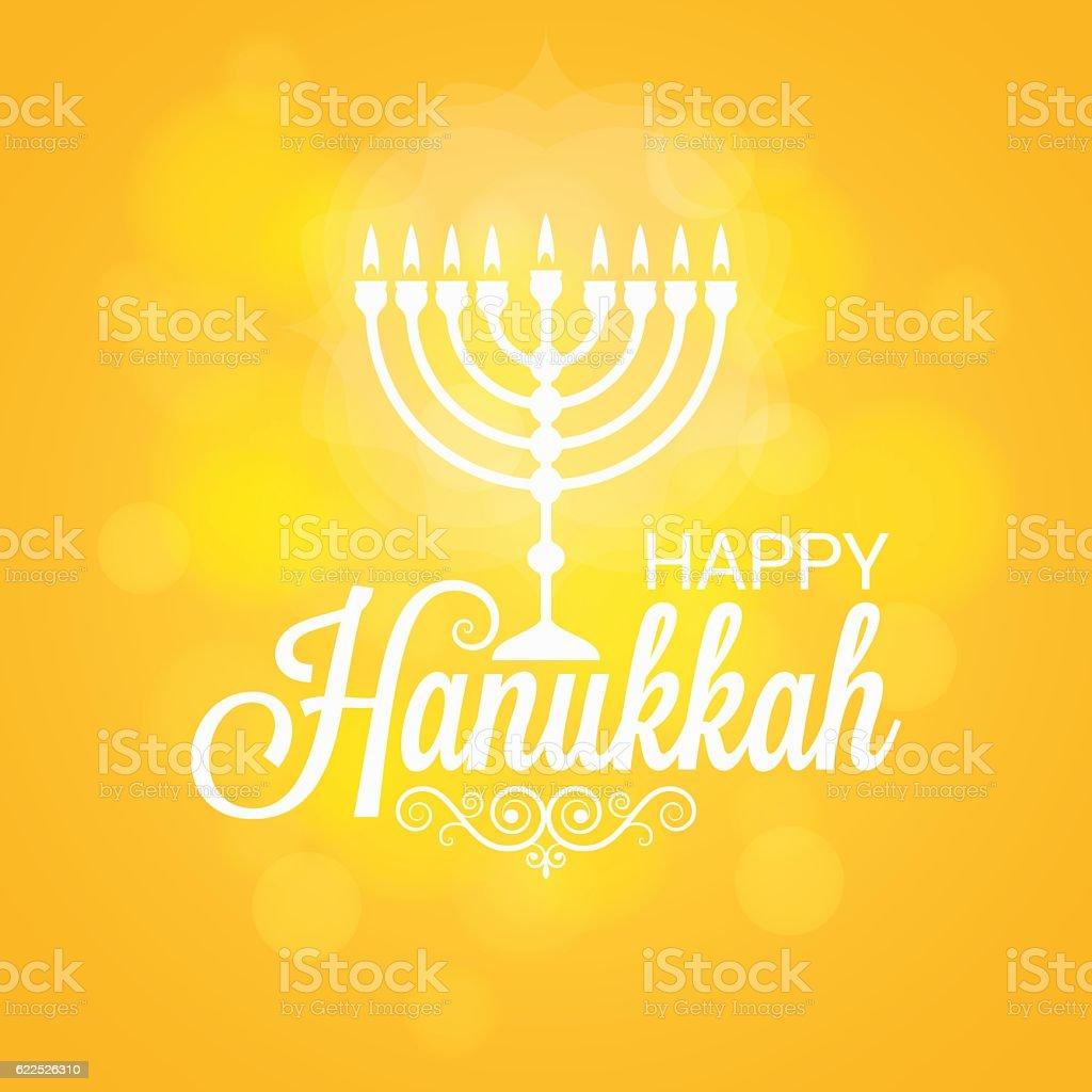 Hanukkah Card Sun Lights Background vector art illustration
