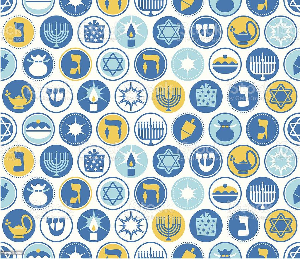 Hanukkah Circles Seamless Pattern royalty-free stock vector art