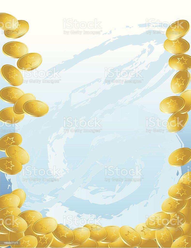 Hanukkah Gelt Background royalty-free stock vector art