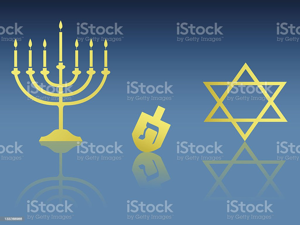 Hanukkah Items royalty-free stock vector art