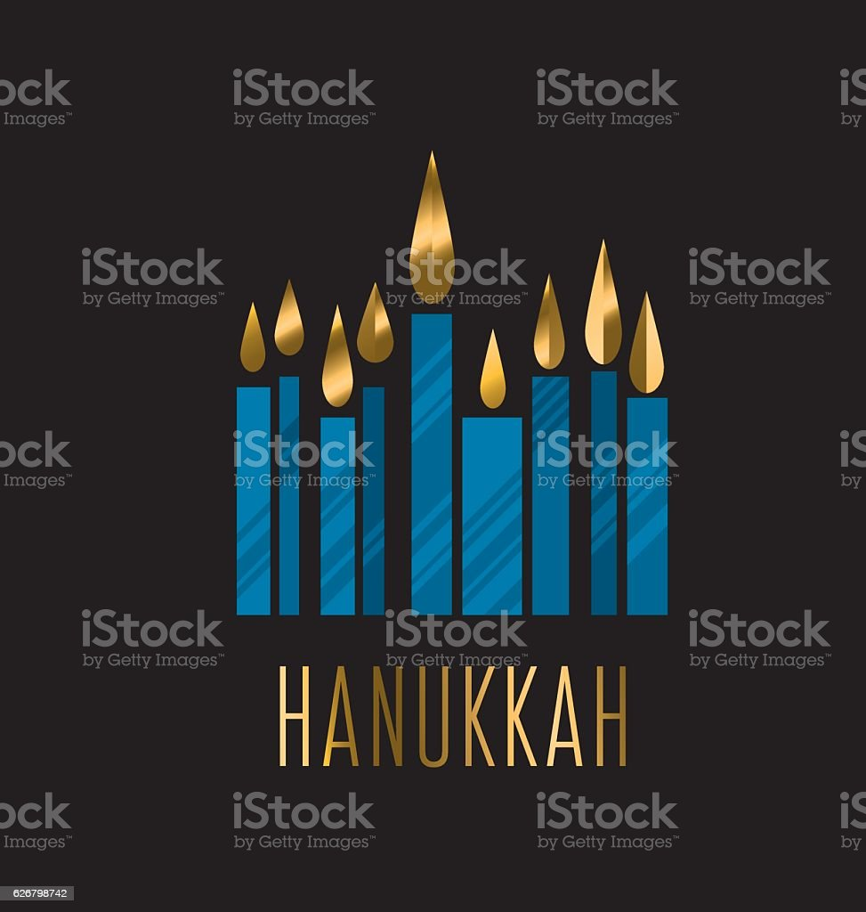 hanukkah menora vector illustration. Juish menora simple vector - ilustración de arte vectorial