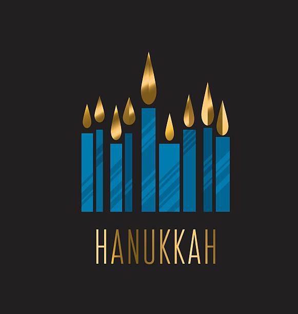 ilustraciones, imágenes clip art, dibujos animados e iconos de stock de hanukkah menora vector illustration. juish menora simple vector - jánuca