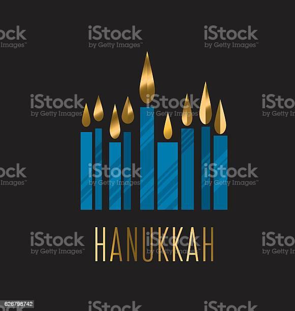 Hanukkah Menora Vector Illustration Juish Menora Simple Vector - Stockowe grafiki wektorowe i więcej obrazów Chanuka