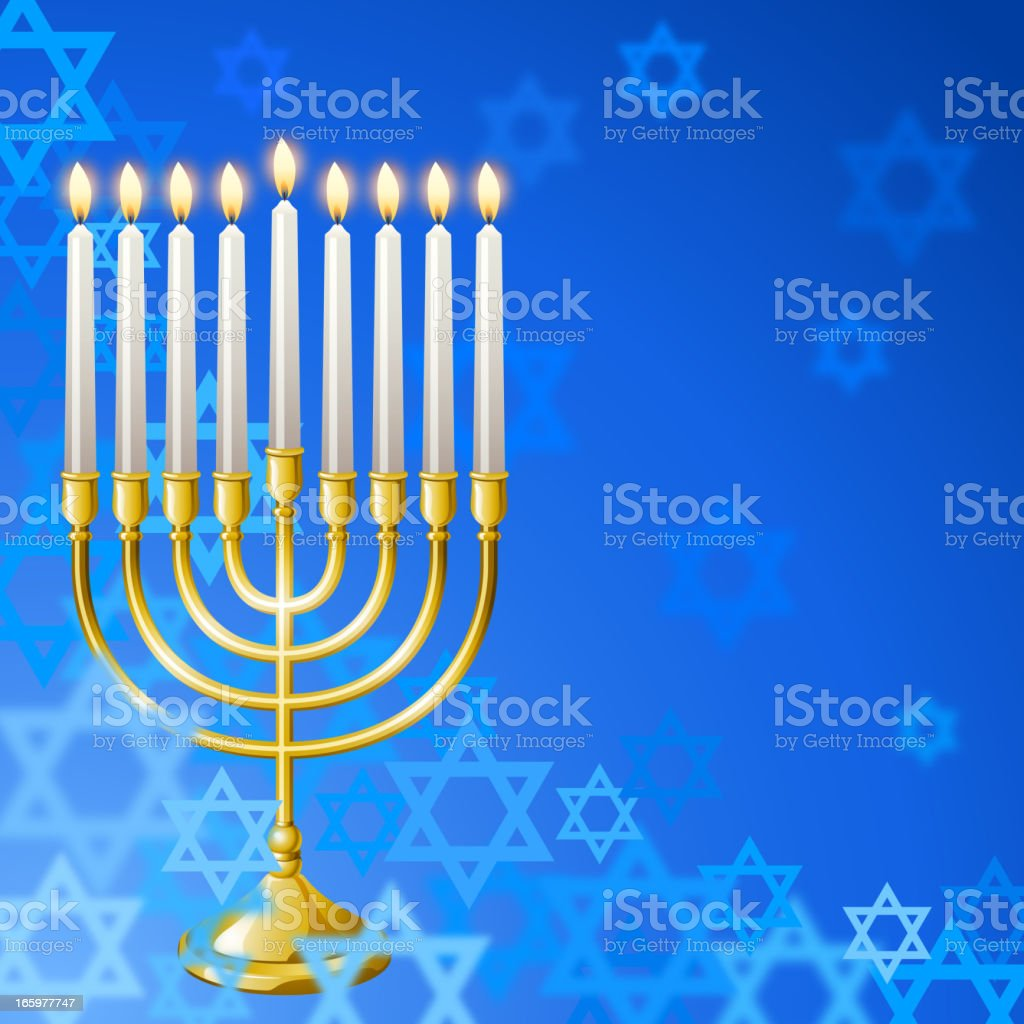 Hanukkah Menorah Background vector art illustration