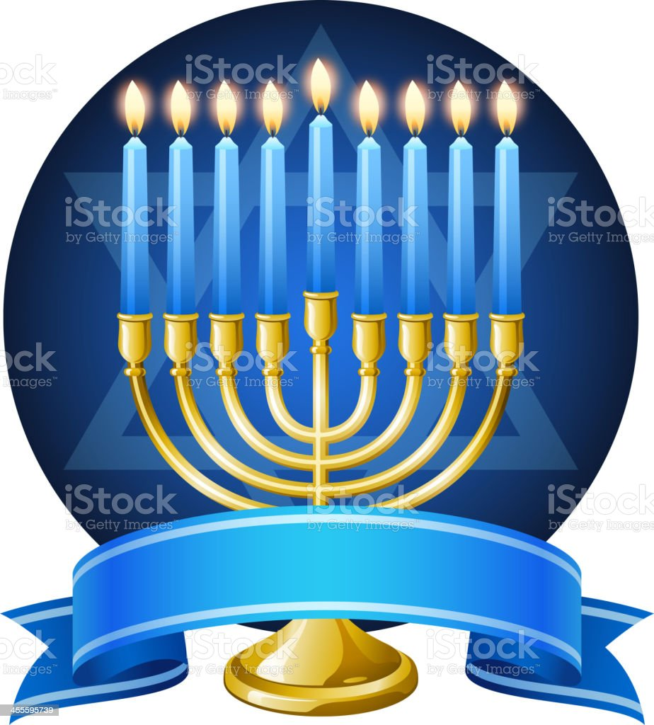 Hanukkah Menorah Symbol royalty-free stock vector art