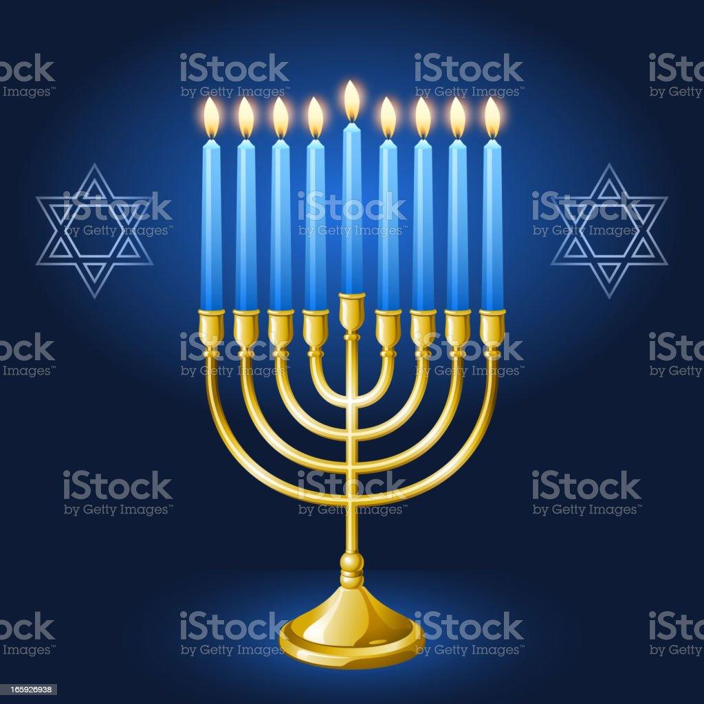 Hanukkah Menorah royalty-free stock vector art