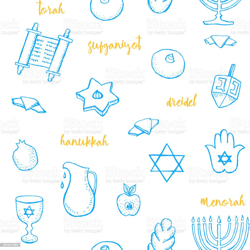 Symbols of hannukah images symbol and sign ideas hanukkah seamless pattern with hand drawn jewish symbols torah hanukkah seamless pattern with hand drawn jewish biocorpaavc