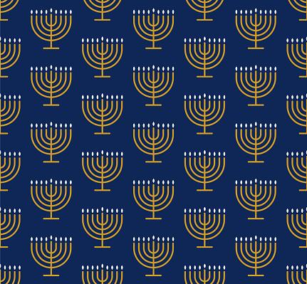 Hanukkah seamless pattern with Menorahs.