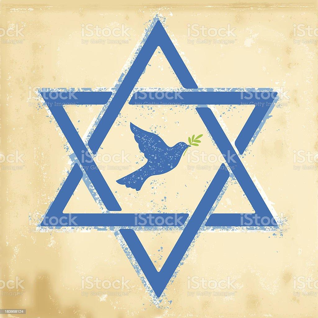 Hanukkah Star OF David royalty-free stock vector art