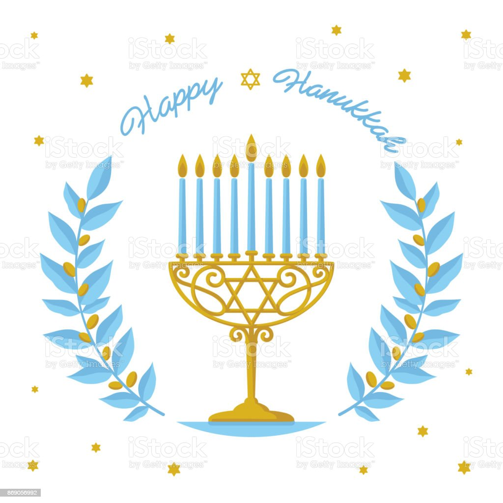 Hanukkah Vector Design Happy Hanukkah Greeting Jewish ...