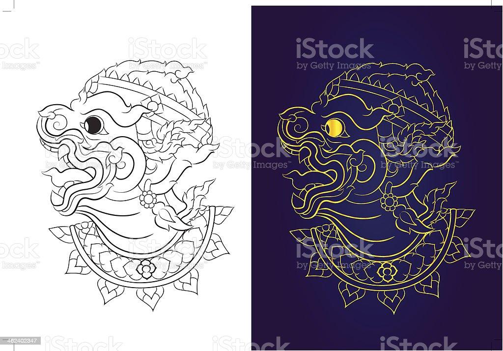 hanuman royalty-free stock vector art