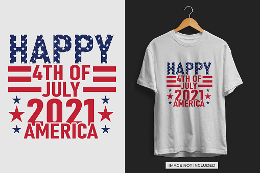 Happ 4th of July America Independence day tshirt design