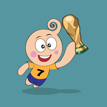 happiness with trophy world cup