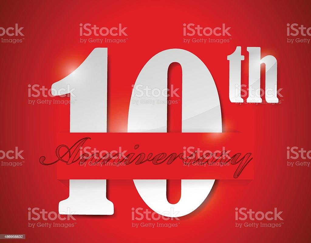 Happy th anniversary illustration design stock vector art more