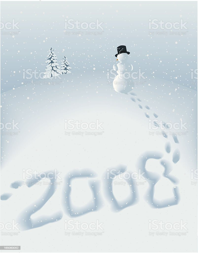 Happy 2008 royalty-free stock vector art