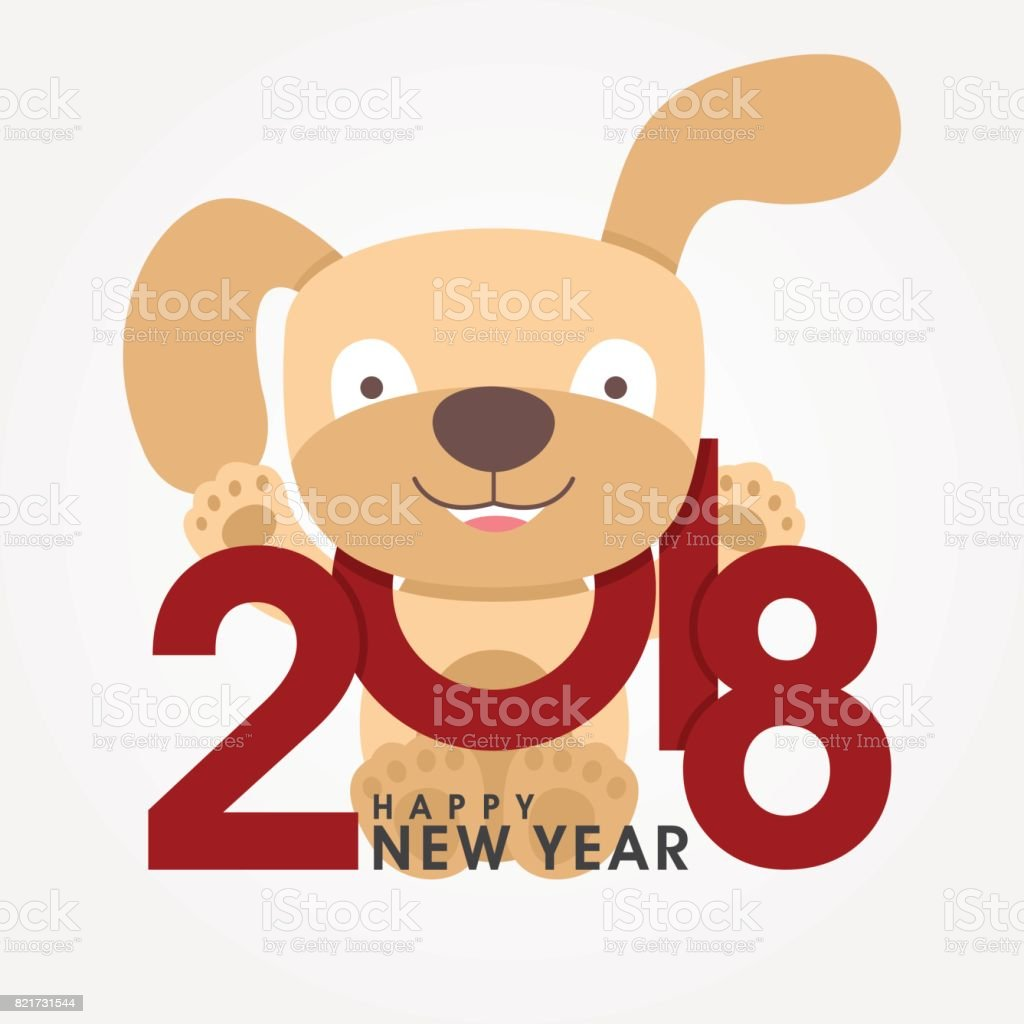 Happy 2018 new year greeting card chinese zodiac funny dog happy 2018 new year greeting card chinese zodiac funny dog congratulates on holiday royalty m4hsunfo