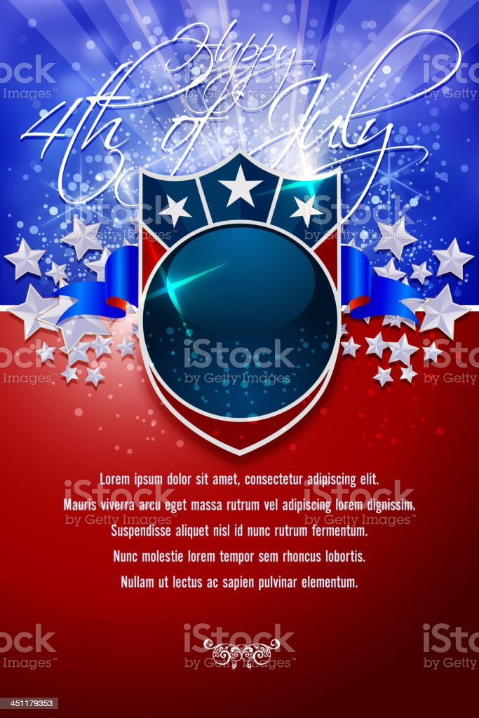 Happy 4th of July Background vector art illustration