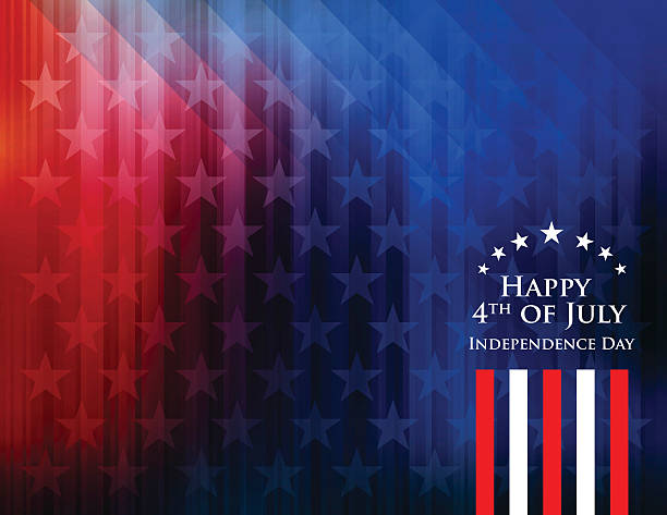 Happy 4th of July Independence Day Background vector art illustration