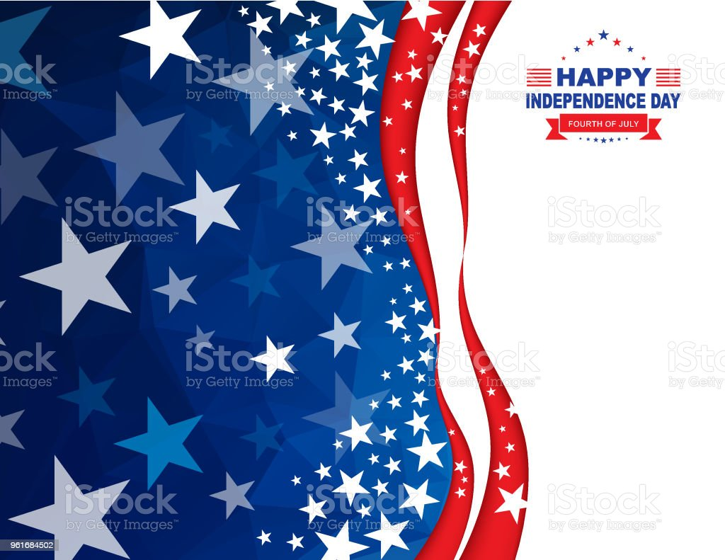 Happy 4th of July Independence Day Background Vector of Happy 4th of July Independence Day Background. EPS Ai 10 file format. Backgrounds stock vector