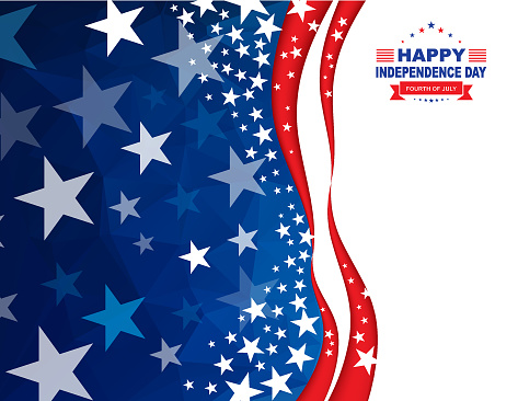 Happy 4th Of July Independence Day Background Stock Illustration - Download Image Now