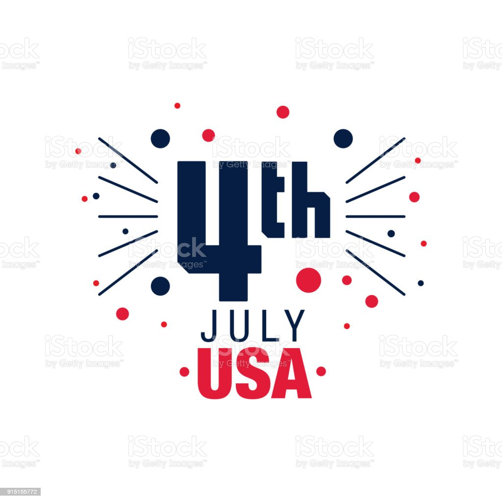 Happy 4th of july original emblem of american independence day original emblem of american independence day abstract firework icon m4hsunfo