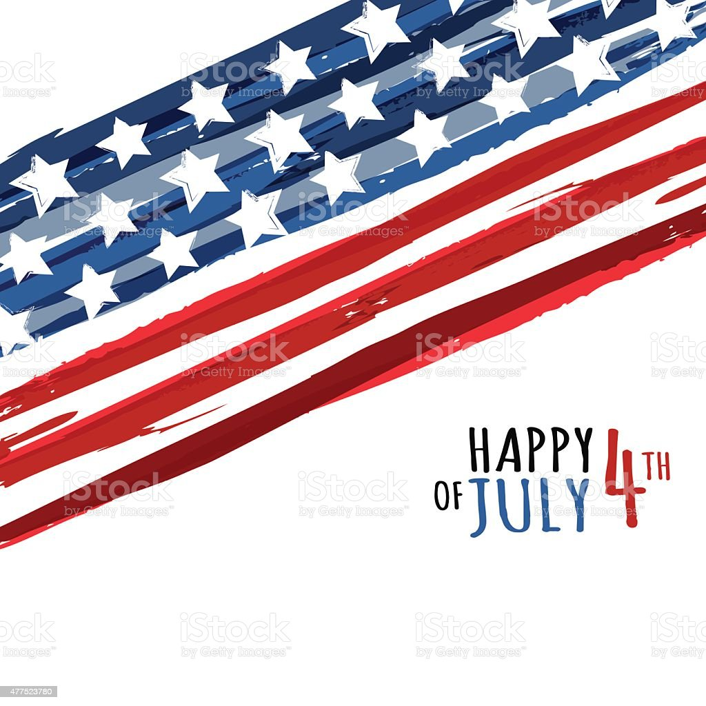 Happy 4th of July, USA Independence Day. Vector abstract background. vector art illustration