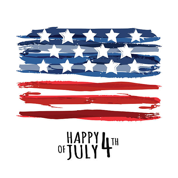 happy 4th of july, usa independence day. vector abstract background. - independence day stock illustrations, clip art, cartoons, & icons