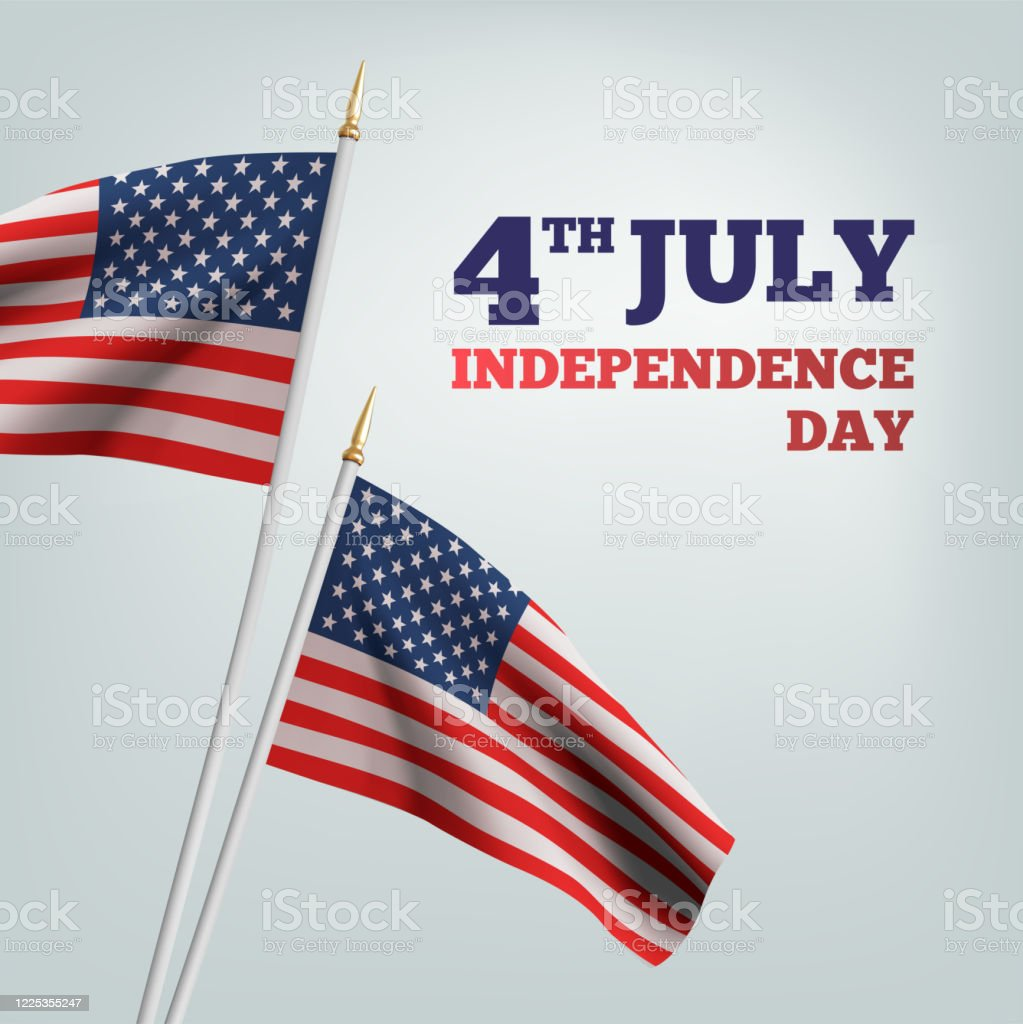 Happy 4th Of July Usa Independence Day Waving Flag Of The America 3d Advertising Textile Vector Flags Fourth Of July Background Vector Stock Illustration Download Image Now Istock