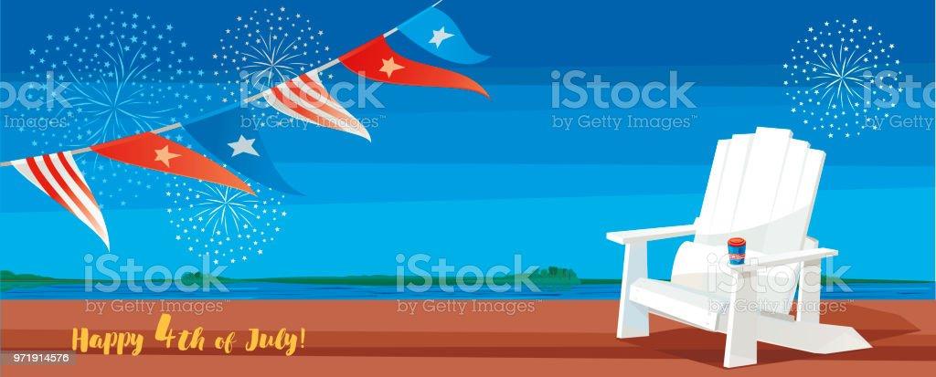 Happy 4th of July! vector art illustration