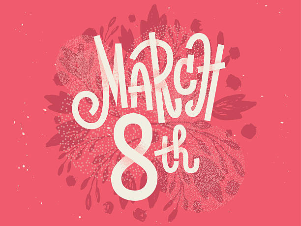 Happy 8th of March, the international women's day, girly greetin – Vektorgrafik