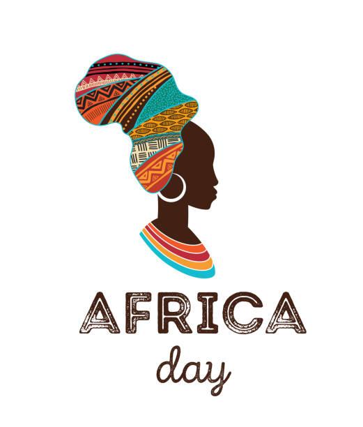 ilustraciones, imágenes clip art, dibujos animados e iconos de stock de feliz día de áfrica. cartel vectorial, banner, tarjeta - descendencia africana