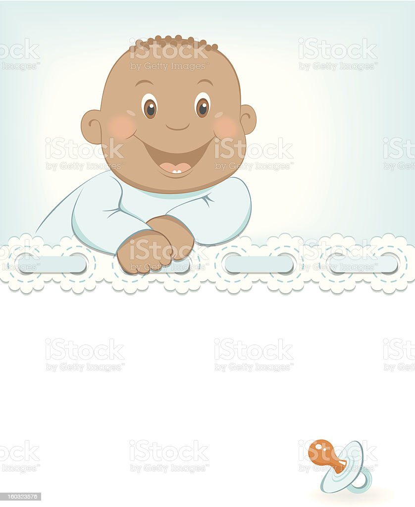 Happy African baby boy arrival announcement royalty-free happy african baby boy arrival announcement stock vector art & more images of affectionate