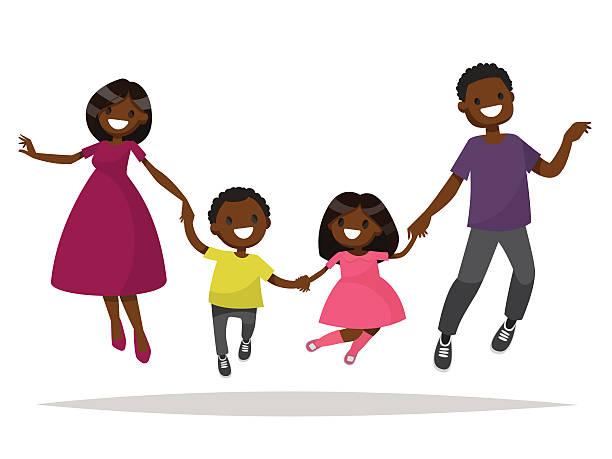 Best Black Family Illustrations, Royalty-Free Vector