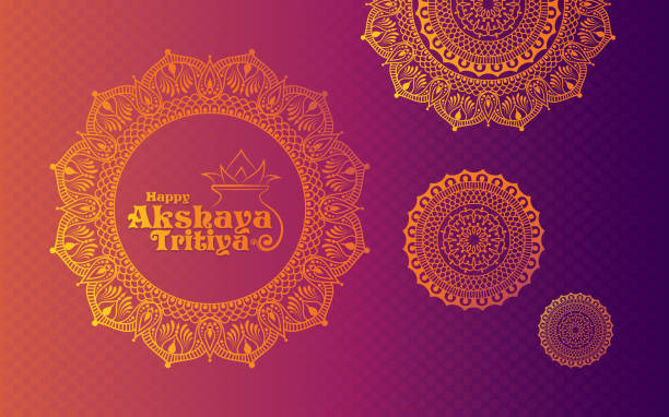stockillustraties, clipart, cartoons en iconen met gelukkig akshaya tritiya achtergrond - indiase cultuur